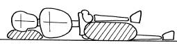 decubito laterale con cuscino tra le ginocchia