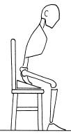 sedersi utilizzando un supporto a cuneo che facilita lo sbilanciamento avanti del bacino