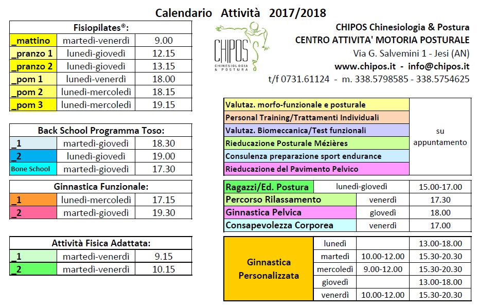 Orario 17-18 CHIPOS_Jesi